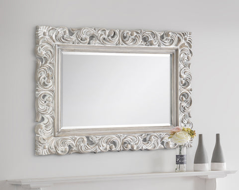 Baroque Distressed Wall Mirror