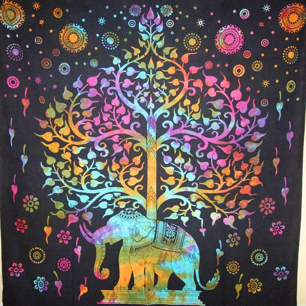 Majestic Elephant / Tree of Life Tapestry