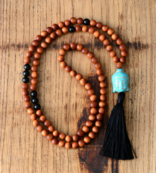 Mala Bead Necklace - 8MM Wooden Beads