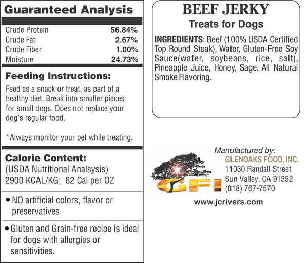 Treats for Dogs - BEEF Jerky