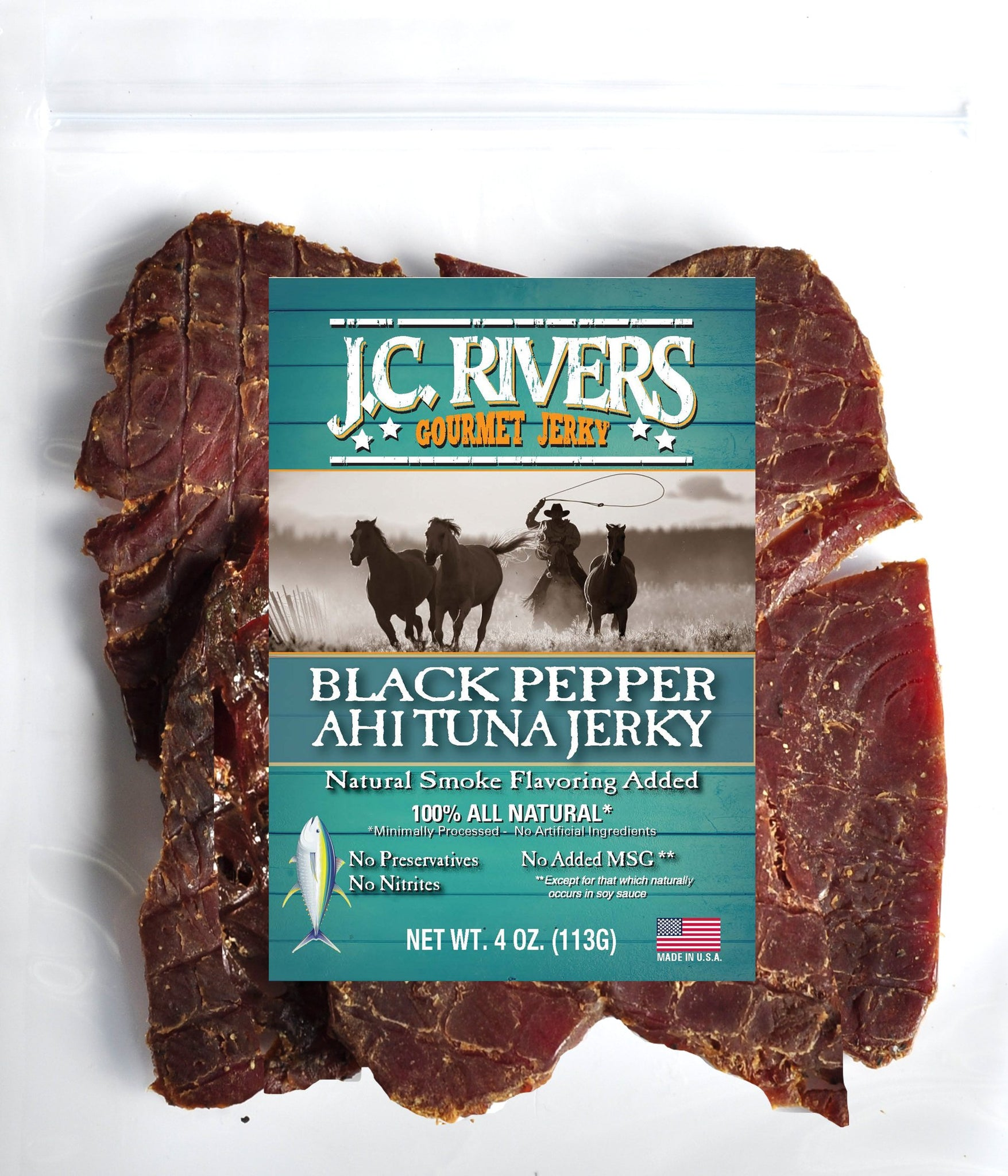 Black Pepper Ahi Tuna Jerky