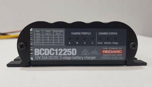 BCDC1225D - Redarc Dual Input 25A In-Vehicle DC Battery Charger