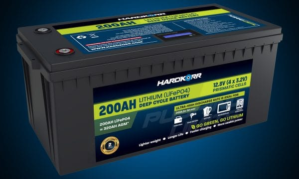 HARD KORR 200AH LIFEPO4 DEEP CYCLE BATTERY (NEW)