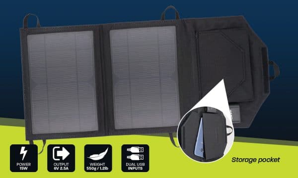 HARD KORR 15 WATT HARD KORR PERSONAL SOLAR PANEL