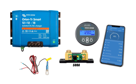 Bundle #1 - Victron 18A DC/DC bundle (220w) with Smart Battery Monitor and Bluetooth
