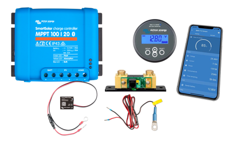 Bundle #2 -Victron 20A MPPT Solar with BMV-712 Smart Battery Monitor with Bluetooth