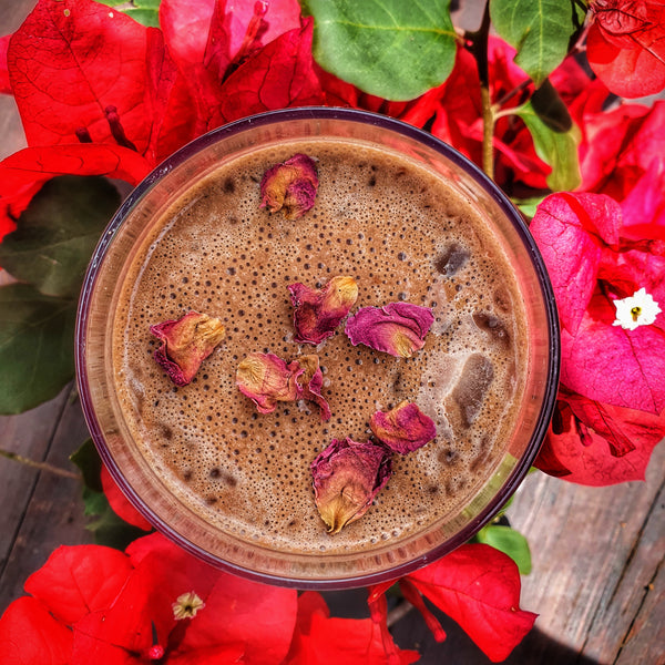 Cacao & roses for an open heart