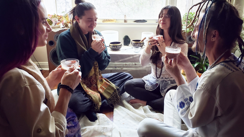 cacao ceremony vegan winter solstice circle ritual astrological