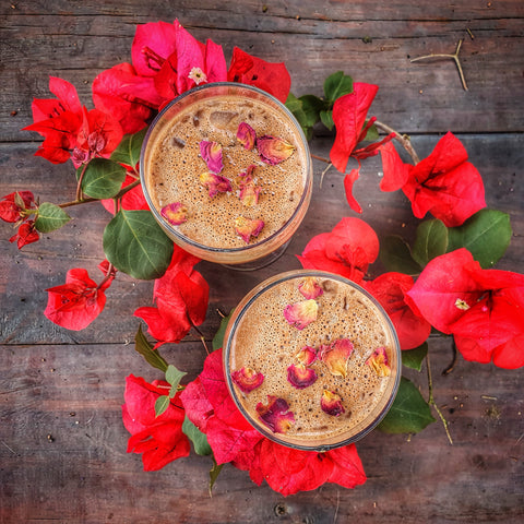 cacao roses recipe hot drink cosmic ceremony