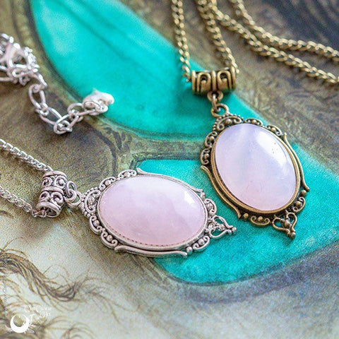 "Collier ""Leda"" Quartz rose"