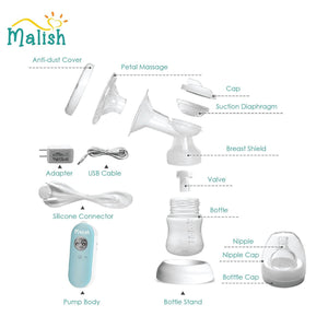 Malish Dolce Double Electric Breast Pump Stimulates and Expresses