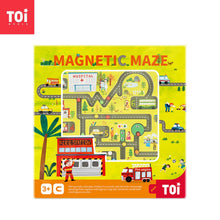Load image into Gallery viewer, Toi World Magnetic Maze Wooden Toy (Learn Traffic & Community Buildings)