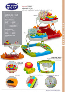 My Dear 20082 Baby Walker with Rocking Function & Music Tray