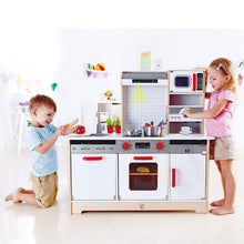 Load image into Gallery viewer, Hape All In One Kitchen E3145 Award Winning Wooden Toy Encourages Sharing, Imagination, Role Play And Creativity Skills