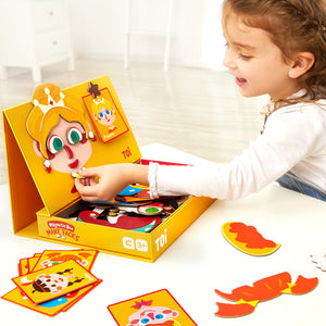 Toi World Magnetic Toy Box, Family Bonding Game, Develops Child's Imagination and Constructive Skills (Make Faces Design)