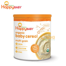 Load image into Gallery viewer, Happy Baby Organic Baby Cereal (Multi-Grain) 198g USDA Organic Starting Solids For Baby