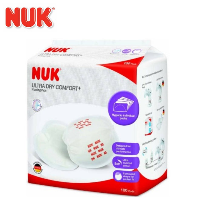 NUK Ultra Dry Comfort+ Nursing / Breast Pads 100 Pieces Hygienic Individual Packs