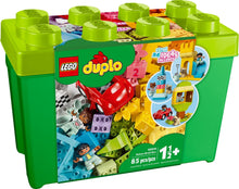 Load image into Gallery viewer, Lego Duplo Classic Deluxe Brick Box 10914 Starter Set with Storage Box, Great Educational Toy for Toddlers 18 Months and Above