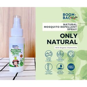Boom Bac Kids Natural Mosquito Repellent Spray With Organic Chamomile 60ml (Expiry: 02/2023)