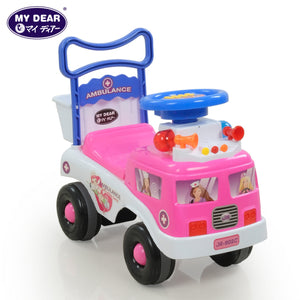 My Dear 23025 Ride On Toy Car with Music Operated Steering Wheel, Under Seat Storage Compartment & Rear Basket