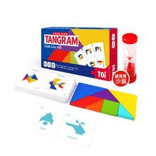 Load image into Gallery viewer, Toi World Puzzle To Go Colorful Tangram With 60 Cards and 120 Graphics