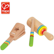 Load image into Gallery viewer, Hape Rhythm Kid's Wooden Musical Instrument Set