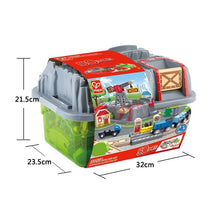 Load image into Gallery viewer, Hape 3764 Railway Bucket Builder Set, Wooden Toy Suitable For 3 Years and Above Children