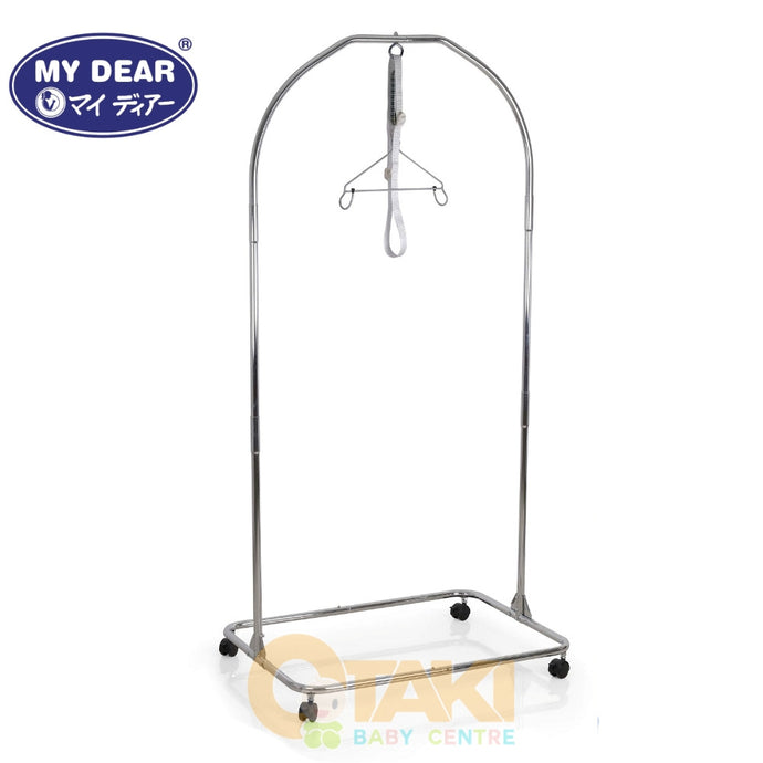 My Dear Spring Cot 24050 Chrome, Lightweight And Durable Baby Cradle Buaian
