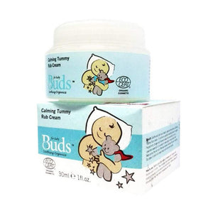 Buds Soothing Organic Calming Tummy Rub Cream With Aloe Vera & Organic Essential Oils 30ml (Expiry: 04/2023)