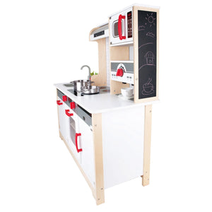 Hape All In One Kitchen E3145 Award Winning Wooden Toy Encourages Sharing, Imagination, Role Play And Creativity Skills