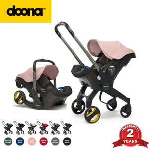 Doona Infant Car Seat Stroller All In One Travel System, Transform From Car Seat to Stroller In Seconds