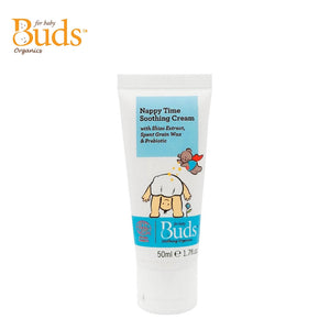 Buds Soothing Organics Nappy Time Soothing Cream 50g With Shiso Extract, Spent Grain Wax & Prebiotic (Expiry: 03/2022)