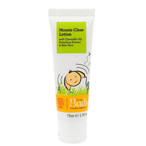 Buds Everyday Organics Mozzie Clear Lotion 75ml With Citronella Oil, Portulaca Extract & Aloe Vera (Expiry: 05/2023)