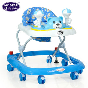 My Dear 20130 Baby Walker With Adjustable Heights, Stopper and Music Tray