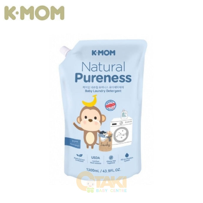 K Mom Natural Pureness Baby Laundry Detergent Refill Pack 1300ml (Expiry: 06/2023)