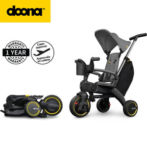 Doona Liki Trike Premium S3, World's Most Compact Folding Tricyle, With Storage Bag