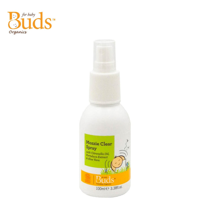 Buds Everyday Organics Mozzie Clear Spray With Citronella Oil, Portulaca Extract & Aloe Vera 100ml (Expiry: 10/2022)