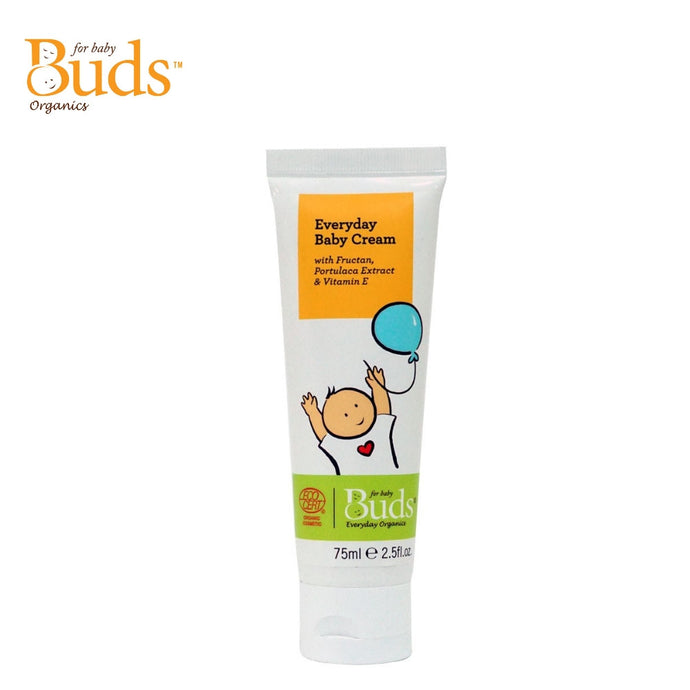 Buds Everyday Organics Baby Cream 75ml With Fructan, Portulaca Extract & Vitamin E (Expiry: 11/2021)