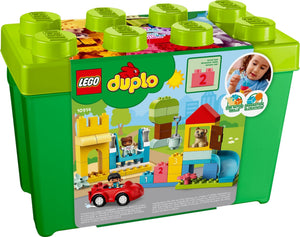 Lego Duplo Classic Deluxe Brick Box 10914 Starter Set with Storage Box, Great Educational Toy for Toddlers 18 Months and Above