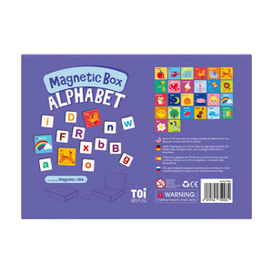 Toi World Magnetic Toy Box, Family Bonding Game, Develops Child's Imagination and Constructive Skills (Alphabets)