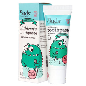 Buds Oralcare Organics Children's Toothpaste With Xylitol 50ml For 1-3 Years Old (Expiry: 06/2023)