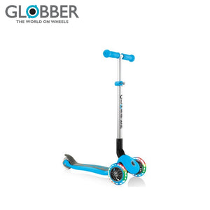 Globber Scooter Primo Foldable Lights Wheels Suitable For 3 Years and Above Children