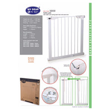 Load image into Gallery viewer, [Free Shipping Within West Malaysia] My Dear Baby Safety Gate 32030 With Auto Swing Back Door and Lock
