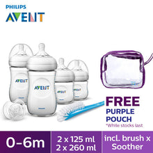 Load image into Gallery viewer, Philips Avent Natural Range Newborn Starter Set SCD290/11 (Free Philips Avent Purple Teats Pouch)