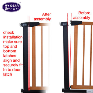 My Dear Baby Wooden Safety Gate 32068 With Both 1 x 7cm and 1 x 14cm Extensions Included Together