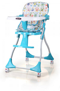 My Dear Baby High Chair 31061 With Stopper Wheels, Compact folded