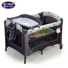 Load image into Gallery viewer, My Dear Baby Playpen 26014 With Side Pocket, Diaper Changer, Carry Bag and Mosquito Net Included