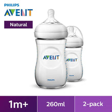 Load image into Gallery viewer, Philips Avent Natural Range 9oz/260ml Baby Bottles (Twin Pack)