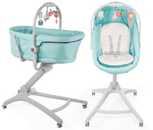 Load image into Gallery viewer, Chicco Baby Hug 4 in 1 Crib, Reclined Cradle, High Chair For Feeding and Baby's First Chair
