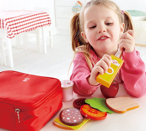 Hape Lunch Box Set Kid's Wooden Kitchen Pretend Play Food and Accessories
